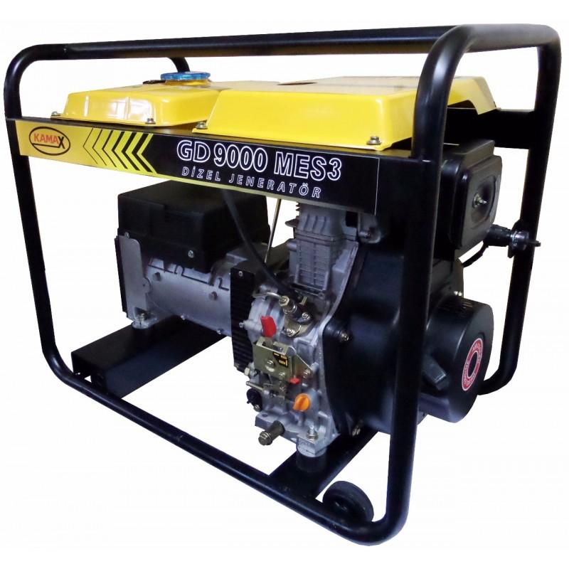 Kamax GD 9000 MES3 Trifaze Dizel 9 kVa Jeneratör