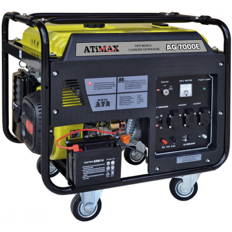 Atimax AG 7000E Marşlı Monofaze 7 kVa Jeneratör