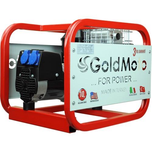 GoldMoto GM4BJBS Benzinli 4 Kva NSM Alternatörlü Monofaze Jeneratör