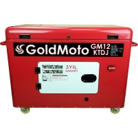 GoldMoto GM12KTDJ Marşlı Kabinli 12 Kva Trifaze Dizel Jeneratör