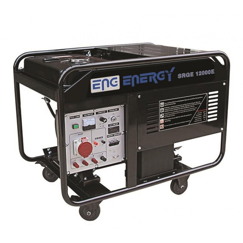 Energy SRGE 12000 E 11 kVa Monofaze Benzinli Jenerator